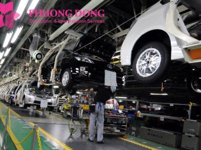 Dịch thuật tiếng nhật chuyên ngành cơ khí ô tô