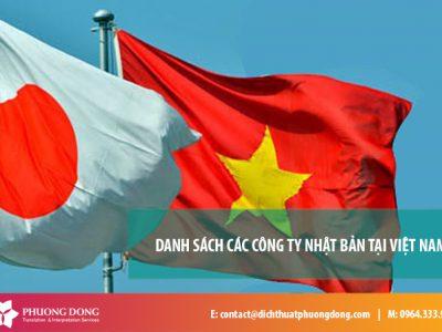 Danh sách 100 công ty Nhật Bản tại Việt Nam